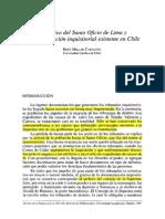 Rene Millar - El archivo del santo oficio de Lima y la documentación inquisitorial existente en Chile