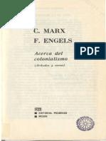 46180420 Marx K y Engels F Acerca Del Colonialismo Articulos y Cartas