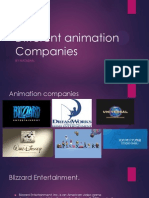 different animation companies