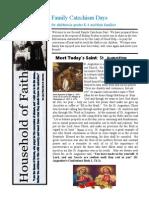 Household of Faith Newsletter - Session 2 Newsletter