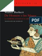 De Homero a Los Magos Burkert Walter PDF