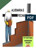Aula Fechamentos & ALVENARIA Enviar2014_prof. Samir Fagury