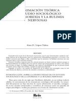 Aproximación Teórica al Estudio Sociológico de la Anorexia y la Bulimia Nerviosas.