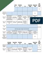 schedule - schedule of presentations