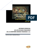 COMPAÑÍA MINERA PODEROSA S.A
