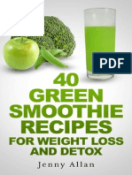 40 Green Smoothie Recipes for Weight Los - Jenny Allan