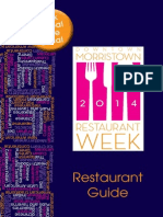 Morristown Restaurant Week Guide 2014
