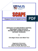 Adequacy of Singapore CPF Payout