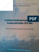 La Primera Contitucion Boliviana 1826 Edparcial