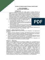 Reglamento Inspecciones Vehiculares Version Final