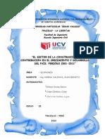 Proyecto Economia(EL SECTOR DE LA CONSTRUCCIÓN Y SU CONTRIBUCIÓN EN EL CRECIMIENTO Y DESARROLLO     DEL PAÍS, PERIÓDO 2001-2011)