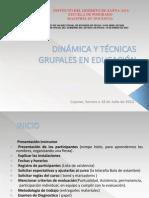 DINÁMICA Y TÉCNICAS GRUPALES EN EDUCACIÓN