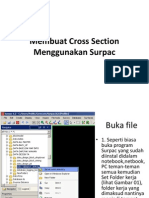 Membuat Cross Section Menggunakan Surpac