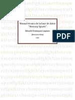 Manual técnico de la base de datos