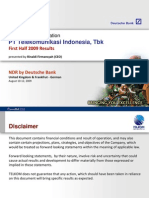 Telkom Non Deal Roadshow presentation Deutsche Bank, Aug 10-12,2009
