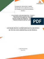 ATPS ADMINISTRAÇÃO DE PESSOAL PRONTA