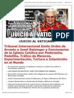 JUICIO AL VATICANO