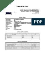 CV Hari Mahardika Sembiring Universitas Brawijaya 2012