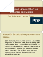 Alteración emocional de pacientes con Dialisis