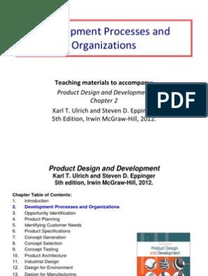 2 Development Processes And Organizations Prototype New Product Development