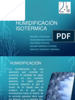 humidificación isotérmica,