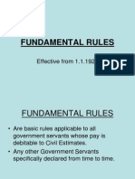 India - Fundamental Rules
