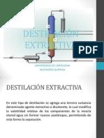 DESTILACIÓN EXTRACTIVA