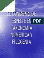 El Concepto de Especie en Taxonomia Numerica Y-1