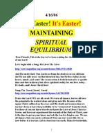 MAINTAINING SPIRITUAL EQUILIBRIUM (2006)  by VanderKOK