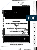 Agard Flight Test Technique Series Volume 2 Identification of Dynamic Systems