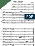 Sonata 11 - Mozart - Transcription for Camerata Cordas Piano e 3violoes - NEW_Score