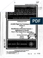 Agard Flight Test Technique Series Volume 3 Part 1 Dynamic Systems Output Error Approach