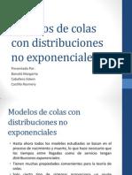 Modelos de Colas Con Distribuciones No Exponenciales