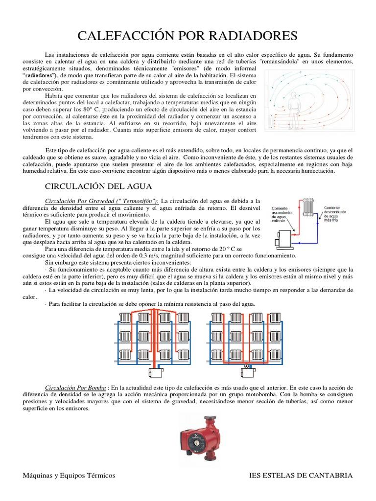 Apuntes de maquinas calefaccion por radiadores pdf for Calefaccion bomba de calor radiadores