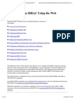 Configuring the iDRAC Using the Web Interface