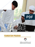 Foundation Programs, AUE