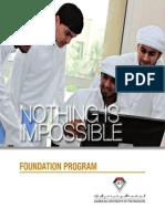 Foundation Programs, AUE