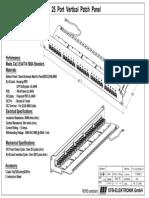 EFB - 37588SW.1 Cat.3 25 Port Vertical Patch Panel