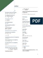 Maths Formulae 2Unit/3Unit/4Unit