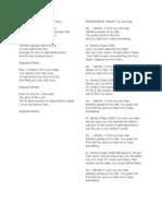 Mass Song Lyrics