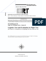 Agard Flight Test Technique Series Volume 20 Logistics Test and Evaluation in Flight Test
