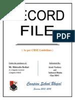C++ Record File