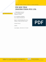 Tew Kim Thai Construction Pte Ltd.