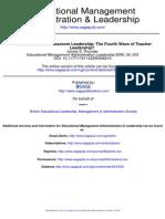 Administración Transformational Classroom Leadership The Fourth Wave of Teacher Leadership