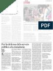 20140704 La Vanguardia - Per la defensa dels serveis públics a la ciutadania