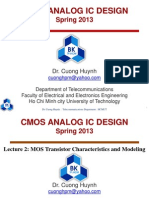 Lecture 2 MOS Transistor Characteristics and Modeling