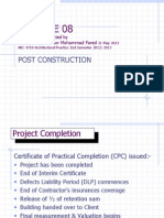 Lecture 09 Post Construction