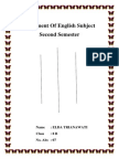 Assigment of English Subject