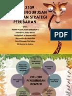 Ciri-Ciri Pengurusan Inovasi Dan Strategi Perubahan
