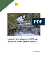 Guía para la instalación de CAUMAX en windows 7